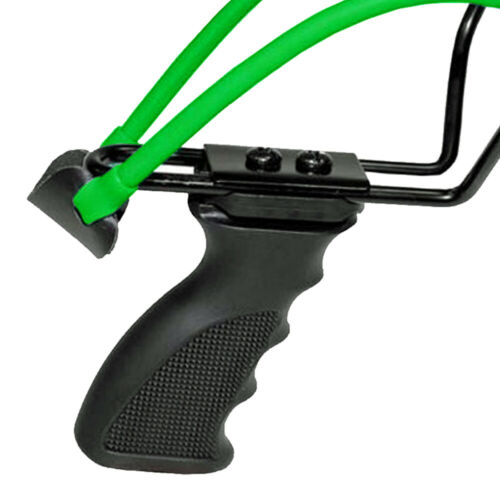 """MFH Sport Schleuder Zwille Futterschleuder /""""Deluxe/"""" schwarz-grün mit 20 Kugeln"""