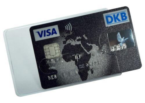 Kartenhüllen Transparent STABIL Magnetkarten Schutzhülle Ausweis Kartenhalter