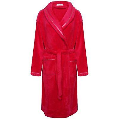 Billiger Preis Ladies Red Dressing Gown Classic Nightwear Loungewear Warm Cosy Soft Womens