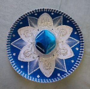 MEXICAN-MARIACHI-HAT-CHARRO-SOMBRERO-COSTUME-22-034-ONE-SIZE-TURQUOISE