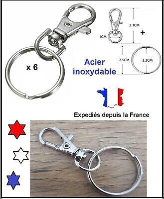 Fermoir en métal argenté pivot demi-cercle 4 x 2.1 cm 5 Mousquetons