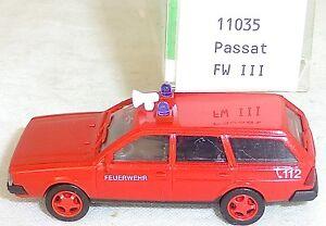 Vw-passat-pompiers-112-fwiii-syncro-Mesureur-EUROMODELL-11035-h0-1-87-OVP-gb5-a