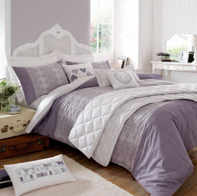 New Kirstie Allsopp Alberta Duvet Quilt Cover 100% Cotton