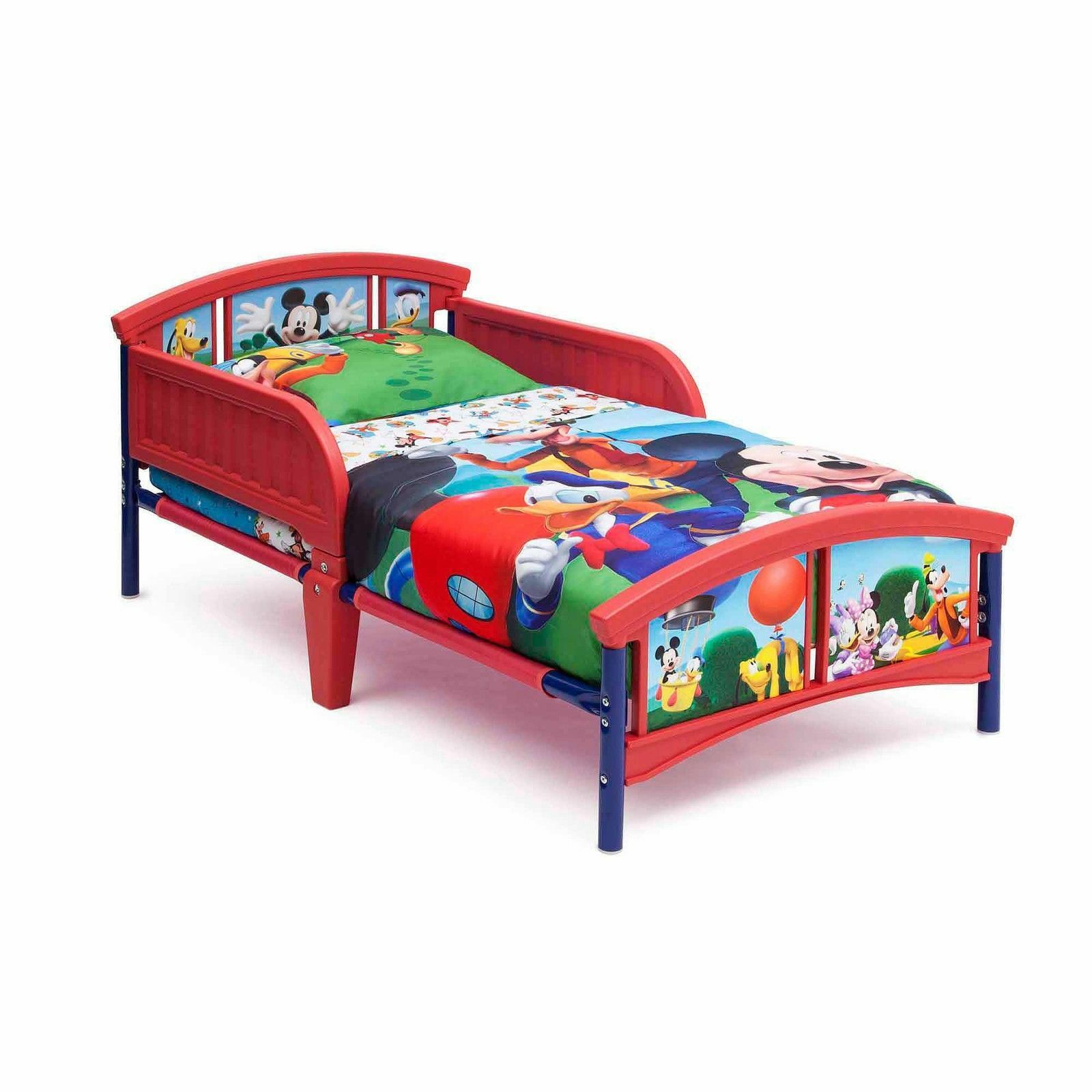 Delta Disney Mickey Mouse Plastic Kids Toddler Bed Boys
