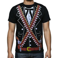 Mexican Mariachi Bandido Pistolero Cowboy Men's Tux Party Cinco De Mayo T Shirt