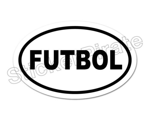 * Oval Car Magnet FUTBOL Magnetic Bumper Sticker