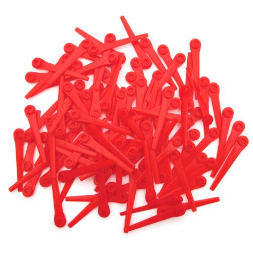 100 x Kunststoffmesser Ersatzmesser Blades für Gardena 9823 9825 Rasentrimmer