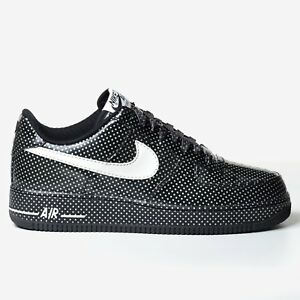 Details about Nike Women's Air Force 1 Black Swan 2009 Polka Dot White Patent AF1 315186 013