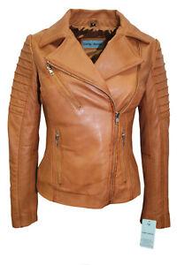 Ladies Jacket Real Meghan Designer Biker Leather Soft Style Tan Casual Fashion 7RqdRBp