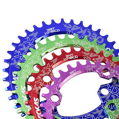 104BCD MTB Bicycle Chainring Round//Oval 32//34//36//38T Crank Narrow Wide Chainring