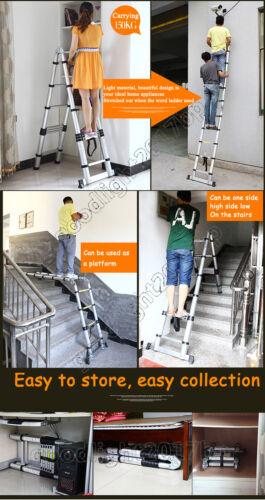 Aluminium Multi Purpose Folding Extension Ladder Combination DIY Telescopic Step