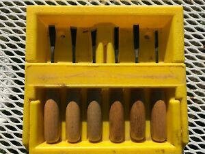 Vintage-Stanley-6-Piece-Carving-Tool-Set-16-250-with-original-case