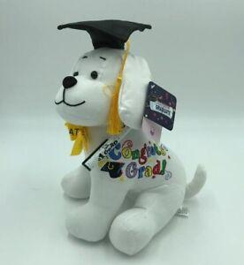 10.5/'/' Plush Teddy PINK Graduation Autograph Stuffed Dog Congrats Grad