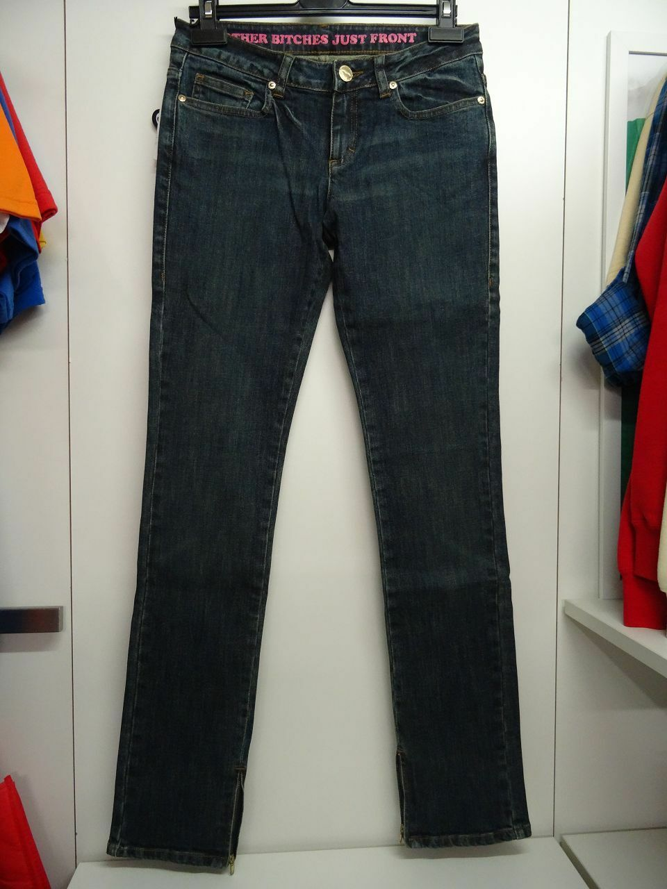 Married to the MOB W Jeans blau Hose Damen Girls Skater NEU Frauen Sk8 Jeanshose