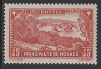 """MONACO STAMP TIMBRE N° 123a """" LE ROCHER VARIETE ROUGE BRIQUE """" NEUF xx TTB RARE"""