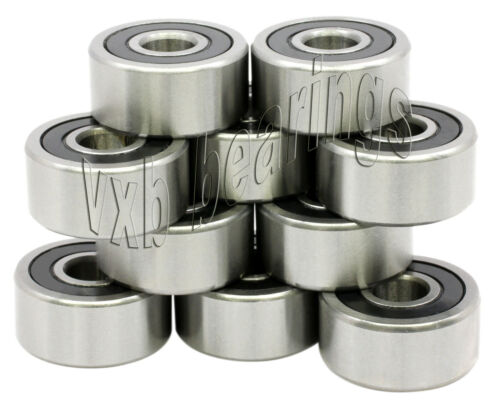 10 6002RS 15x32x9 Sealed 15mm//32mm//9mm Deep Groove Radial Ball Bearings