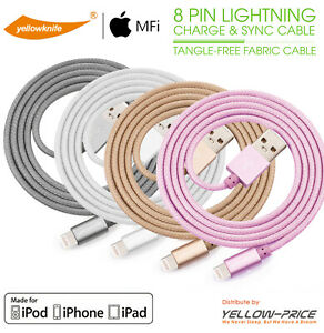 Extra-Long-Nylon-Braided-USB-Fast-MFI-Charging-amp-Syncing-Cord-iPhone-Charger-XS