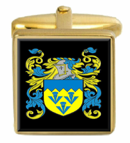 Zielsetzung Hail Schottland Familie Wappen Familienname Gold Manschettenknöpfe Graviert