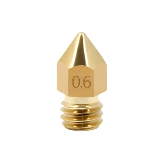 10X MK8 Brass Filament Extruder Nozzle For 3D Printer Set CR-10 0.2mm-1.0mm hot