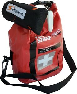 Red Dry Bag First Aid Survival EMT Trauma Kit- Safety Boaters Trauma Kit
