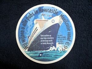 COLLECTIBLE-BEERMATS-DFDS-SEAWAYS-IJMUIDEN-NEWCASTLE-MAXICRUISE