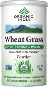 Organic-India-Wheat-Grass-Powder-100-gm-Free-Ship