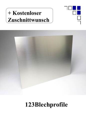 Screen Protector 1,5mm Stainless Steel Brushed 1.4301 v2a Blank Plate One