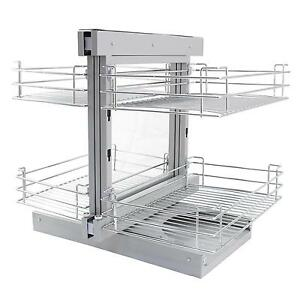 Magic Corner Kitchen Baskets Pull Right Hand Slide Out Wire Storage ...