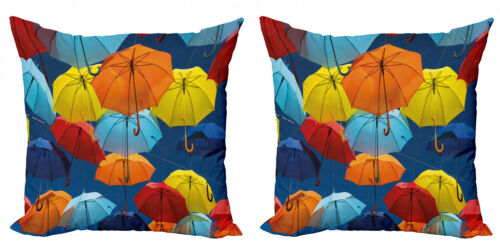 Ambesonne Earth Tones Cushion Cover Set of 2 for Couch and Bed in 4 Sizes