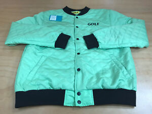 1901fe739d77 TYLER THE CREATOR GOLF WANG FIND SOME TIME LOGO BOMBER JACKET LIME ...