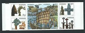 1990-SWEDEN-Viking-Heritage-Booklet-contains-Scott-1808a-MNH