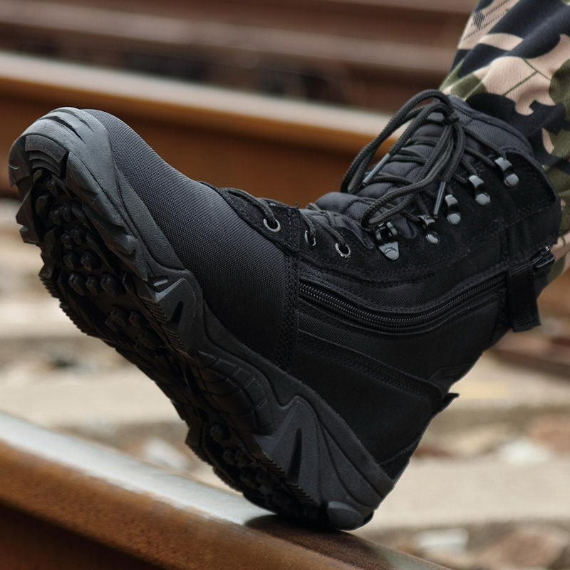 Men Military Tactical Lace Up Ankle Boots Combat Boots Army Safety Work shoes