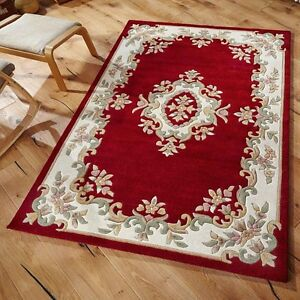 Details About Indian Aubusson Wine Red Wool Traditional Rugs 200x285cm Chinese Large
