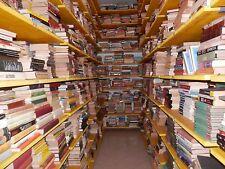 Lotto blocco STOCK di 100 libri vecchi genere librerie mercatini bazar romanzi e