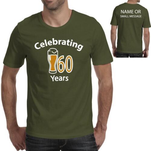 Celebrating 60 Years Birthday Gift Printed T-Shirt for him Dad Grandad