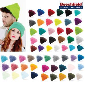 71fdf121 Details about Original Cuffed Beanie - Beechfield (B45) Soft Winter knitted  hat Men/Women cap