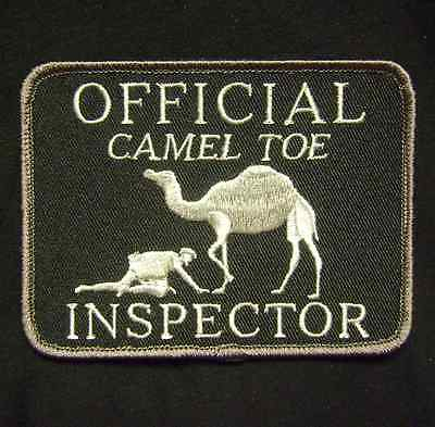 OFFICIAL CAMEL TOE INSPECTOR TACTICAL ARMY SWAT VELCRO® BRAND FASTENER PATCH