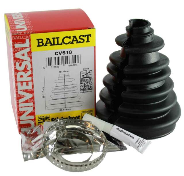 2X UNIVERSAL STRETCH SHAFT CV JOINT BOOT KIT GAITER /& FITTING CONE
