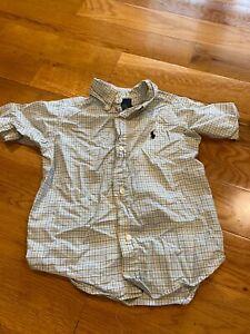 Toddler-Boys-Ralph-Lauren-Polo-Button-Down-Short-Sleeve-Shirt-Size-2T-VS