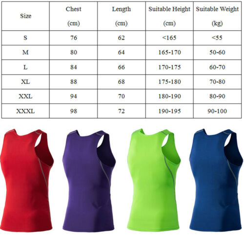 Men's Solid Quick Dry Vest Running Fitness Sports Tank Tops Athletic Apparel