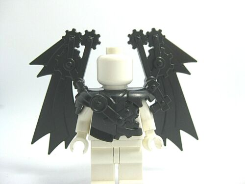 Black NEW Custom Steampunk ARMOR /& WINGS for Custom Minifigures