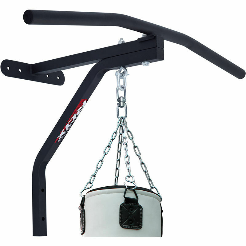 RDX Barra sacco per trazioni in ferro CBR-X1 nero allenamento sacco Barra fitness palestra 58fa76