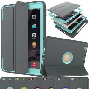 Smart Full Protective Hard Cover Stand Case For iPad 9.7 5th 6th Gen Mini 2 3 4