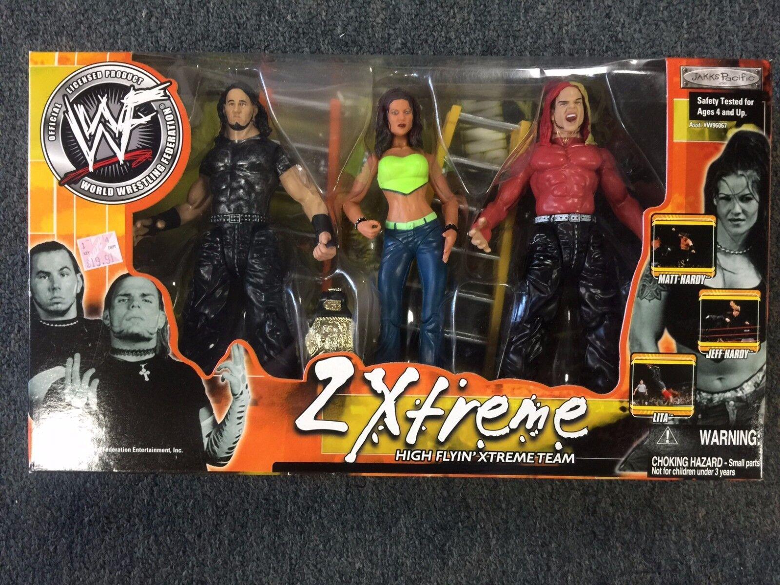 JAKKS Pacific WWF WWE 2 Xtreme Matt Hardy JEFF HARDY Lita