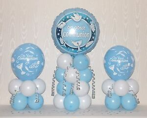 Holy Communion Boy 3 Pack Party Set Table Balloon Decoration