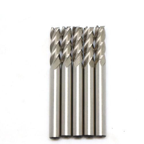 5Pcs HSS CNC Straight Shank 4 Flute End Mill Cutter Drill Bit Tool 6mm