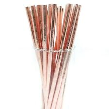 12 PC Metallic Rose Gold Cake Pop Straws | Bakell®