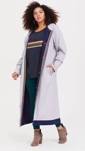 Torrid Her Universe 13th DOCTOR WHO Thirteenth BBC Cosplay Trench Coat Plus Size