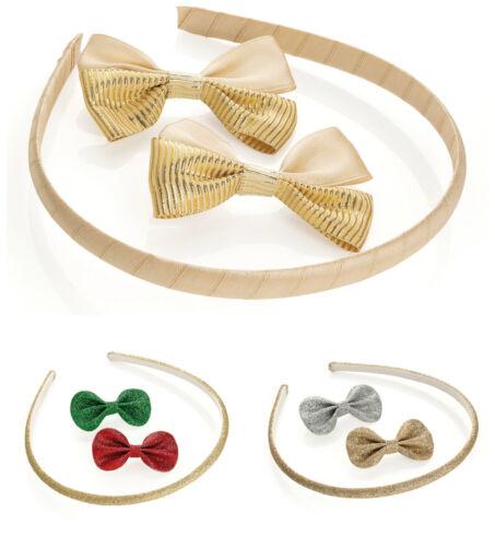 Gold Headband and Glitter Hair Clip Set Girls Hair Band Hair Clips