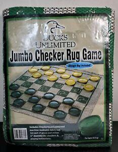 Ducks Unlimited Jumbo Checker Rug Game New In Package Ebay